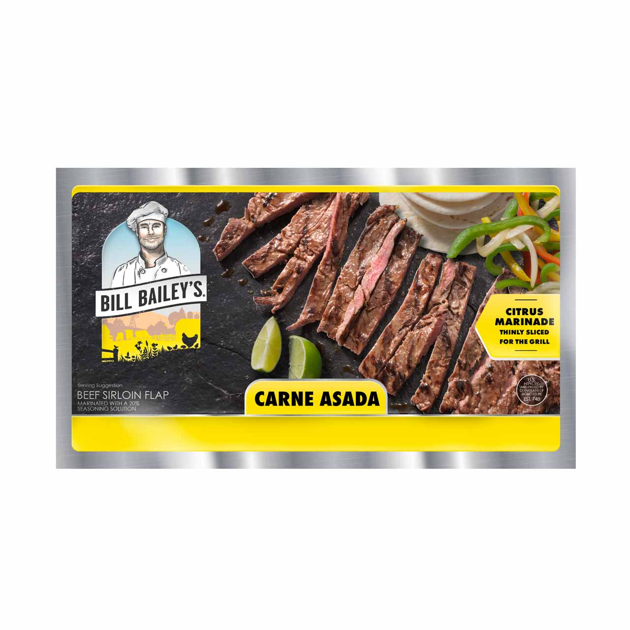 Carne Asada Beef Sirloin Flap Packaging